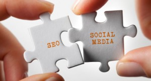 seo and social media puzzle pieces