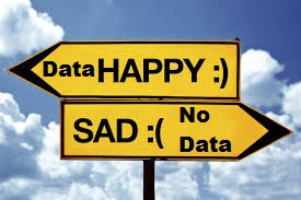 Happy Data road sign